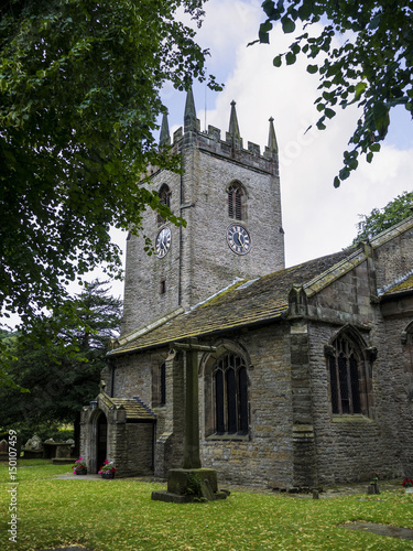 St Christophers Church in Pott Shrigley which  is in Cheshire East, England Canvas Print