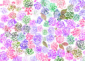 Abstract watercolor floral background.
