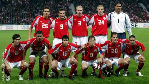 buy online afa44 5f11b Swiss national soccer team players Philipp Degen, Alexander ...