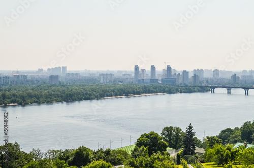Foto op Canvas Stad gebouw Aerial view of Kiev, Ukraine and Dnieper river
