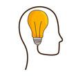 Bulb and big ideas icon vector illustration graphic design