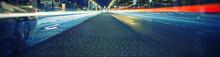 Light Trace From Night Traffic