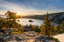 Emerald Bay On Lake Tahoe With...