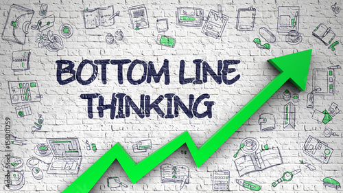 Fotografía Bottom Line Thinking - Modern Style Illustration with Doodle Design Elements