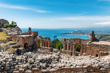 Greek Theater In Taormina, Sic...