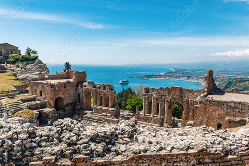 фотография Greek theater in Taormina, Sicily, Italy