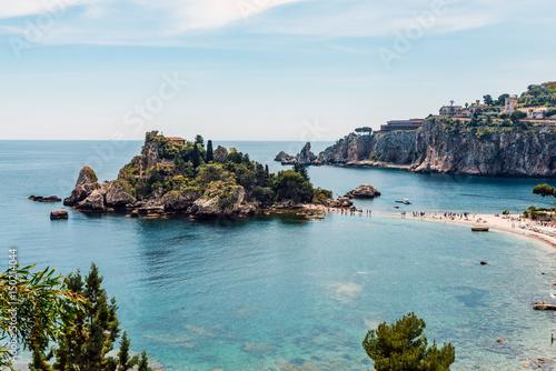 Fotografie, Obraz  Isola Bella in Taormina, Sicily, Italy