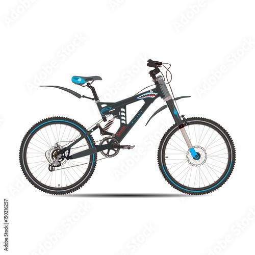Staande foto Fiets Vector illustration of mountain bike in flat style.