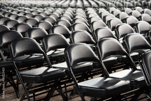Sea of empty chairs Canvas Print