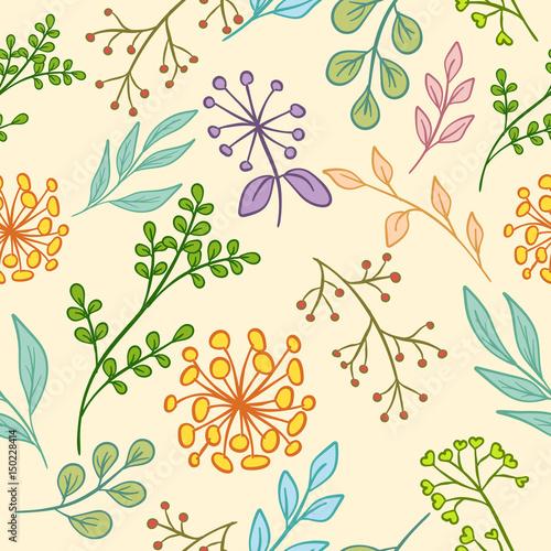 bezszwowe-kolor-kwiatowy-wzor-z-lisci-galezi-kwiatow