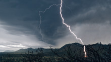 Lightning Storm In The Rocky M...