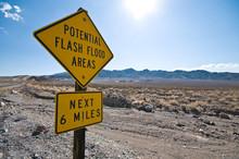 Flash Flood Warning Sign In Th...
