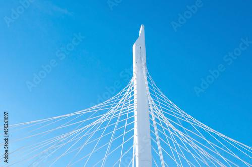 Fototapeta premium Szczegół mostu wantowego