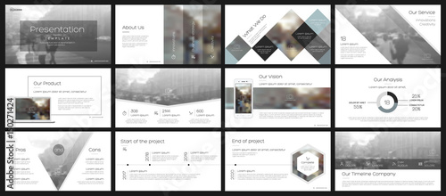 Elements for infographics on a white background Canvas Print
