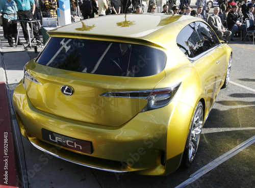 The new Lexus LF-Ch hybrid concept car alternative fuel vehicle is ...