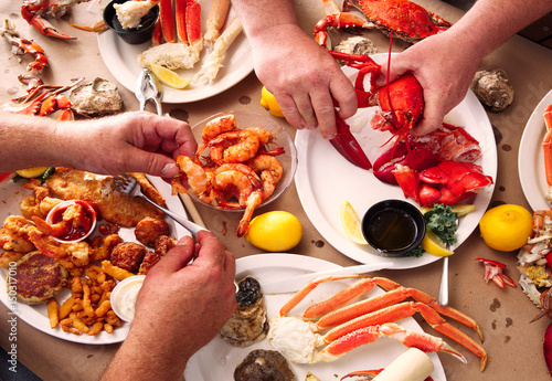 Photo  Seafood Smorgasbord