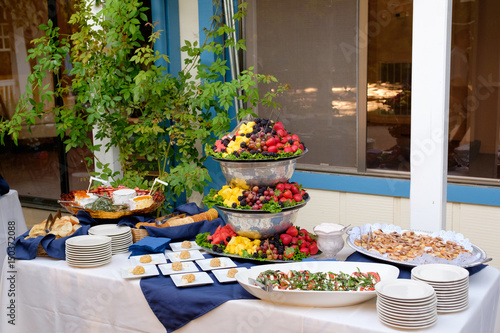 Wedding Reception Buffet Food Buy This Stock Photo And Explore