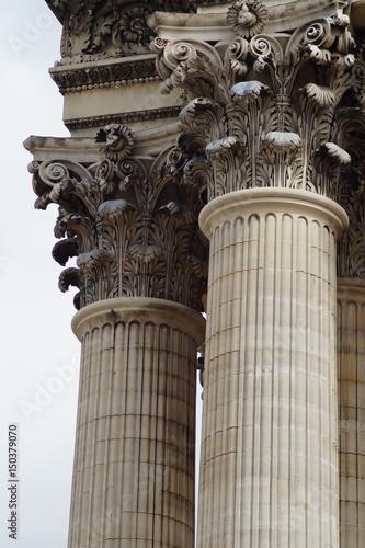 Obraz na plátně Korinthische Säulen im Detail - Panthéon Paris