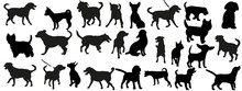 A Collection Of Dog Silhouettes