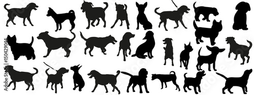 a collection of dog silhoue...