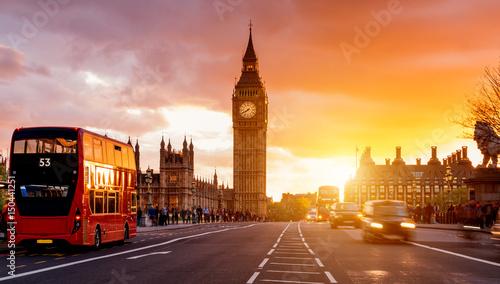 Poster Londres London Westminster Bridge
