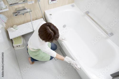 Obraz na plátně 風呂掃除