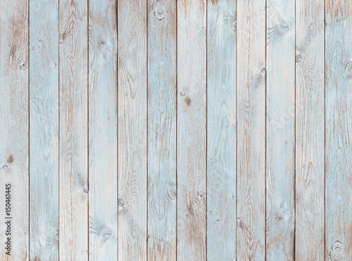 pale blue wood planks texture or background - 150461445