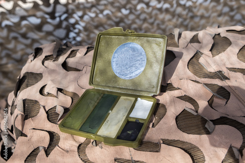 5 Color Army Camouflage Face Paint Buy This Stock Photo
