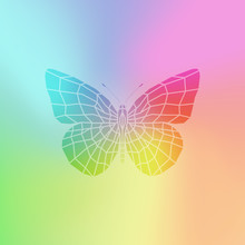 Vector Colorful Butterfly.