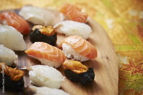 Fotobehang Schaaldieren Sushi
