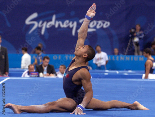 French gymnast Florent Maree performs a