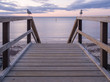 Boardwalk leading to the ocean with seagulls, Busselton, Western Australia