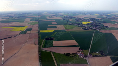 Photo belgian landscape rapeseed