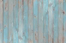 Blue Vintage Wood Planks Texture Or Background