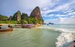Krabi,Thailand,Railay west beach line view