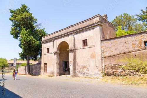 Valokuvatapetti Rome, Italy. The gate of Villa Maxentius on the Appian Way