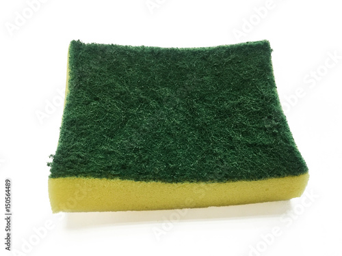 Fotografering  dish washing sponge on white background