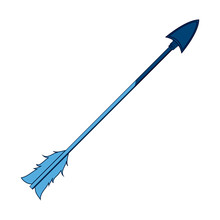 Blue Free Spirit Arrow Rustic Tribal Decoration Vector Illustration