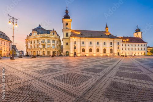 Photo  Council Square Sibiu, Transylvania landmark, Romania