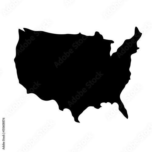 usa country map icon over white background. vector illustration ...