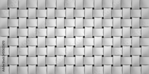 Volume realistic texture, wicker gray background, 3d geometric