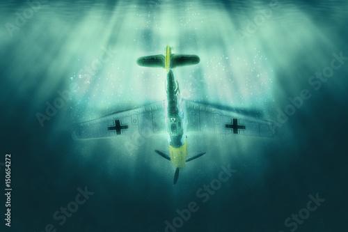 Messerschmitt Bf 109 - Caza alemán Segunda Guerra Mundial Poster