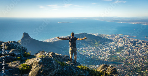 Valokuvatapetti Table Mountain, Cape Town Amazing View