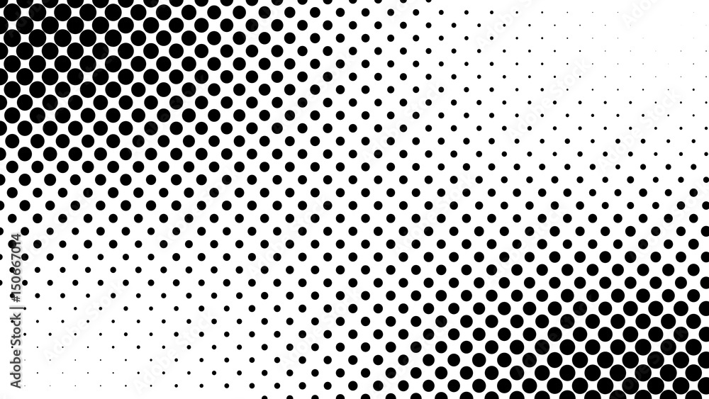 Fototapety, obrazy: Abstract halftone pattern texture. Background is black and white