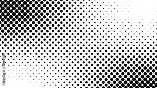 Fotografía  Abstract halftone pattern texture. Background is black and white