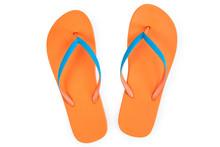 Orange Flip Flops Isolated On ...