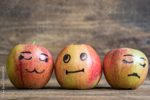 Fotografia  Face on an apples