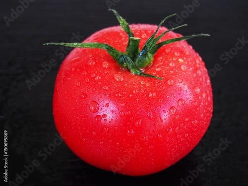 Wet red spring tomato