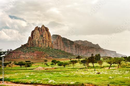 Obrazy na płótnie Canvas Landscape shot in Tigray province, Ethiopia, Africa