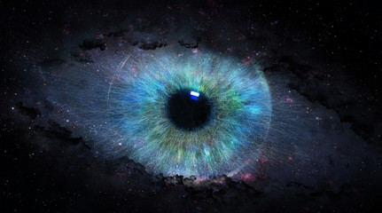 Fototapetaopen eye in space